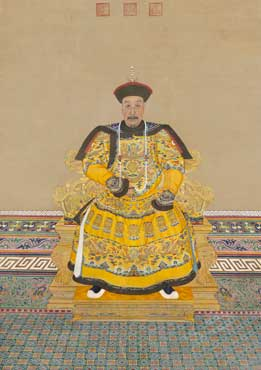 'Emperor Qianlong (detail), Qing dynasty (1644-1911. National Museum of China